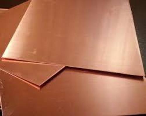 "K&S #259 Copper Sheet .025x4x10"" (0.63mm) 1pc"