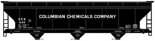 Accurail #81163 HO 3 Bay ACF hopper Columbian Chemicals
