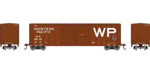 Athearn # ATH27199  Western Pacific HO 50' FMC Centered DD Box