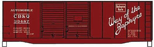 Accurail #12232 40' AAR Steel Box CB&Q