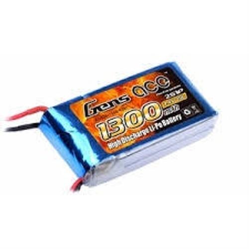 Gens-Ace #GA1300 1300mAh 3S 11.1v 25C with XT60 Plug