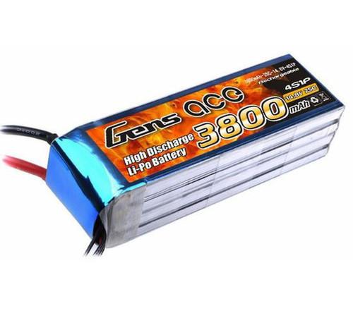 Gen-Ace #GA3800-4s 25C 14.8v Lipo with EC5 Plug