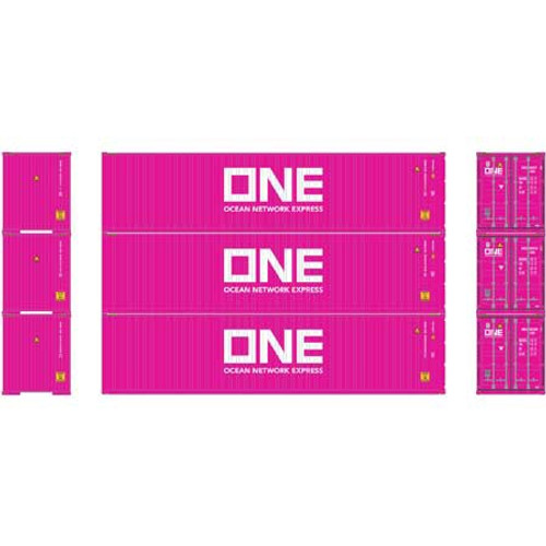 Athearn #ATH27150 HO 40' HC Containers (3pack) ONE