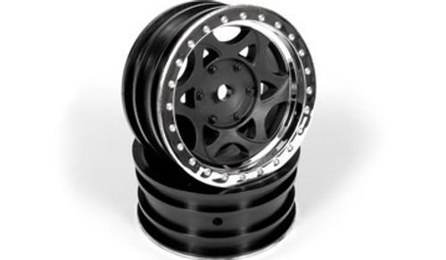Axial #AX08140 1.9 Walker Evans Wheels (Black/Chrome) 1Pair