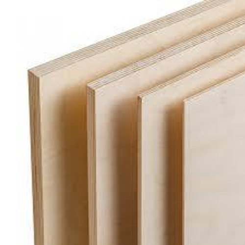 "Mid West #5122 1/16""(1.5mm)x6""x12"" Birch Plywood"
