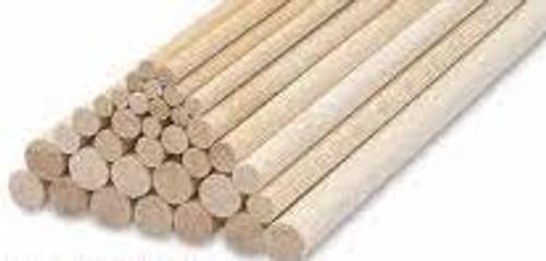 Balsa Wood # 8 x 900 Balsa  Dowel 1Pc