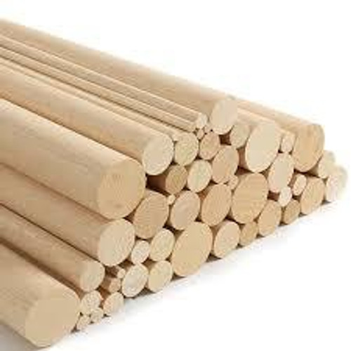 BalsaWood #BWDL00953    9.5mm x 900mm  Dowel-Orange 1pc