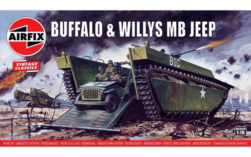 Airfix #A02302V 1/76 Buffalo and Willys MB Jeep (Vintage Classics)
