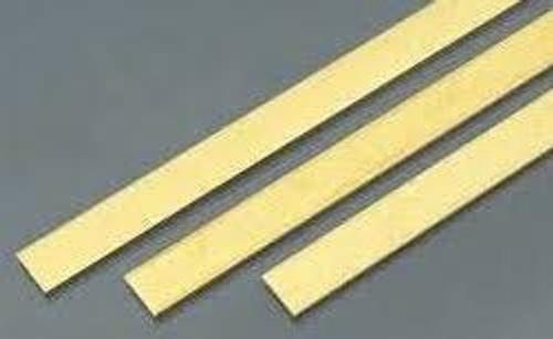 """K&S #8237 Brass Strip .025 x 1 x 12"""" (.64 x 25.4mm) 1pc"""