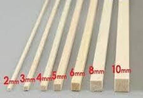 Balsa Wood# 6.5mm x 915mm  Square Balsa Wood 1pce