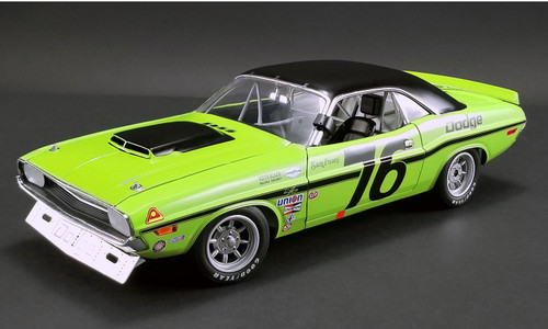 Acme #1806009 1/18 1970 Dodge Challenger Trans Am-Sam Posey