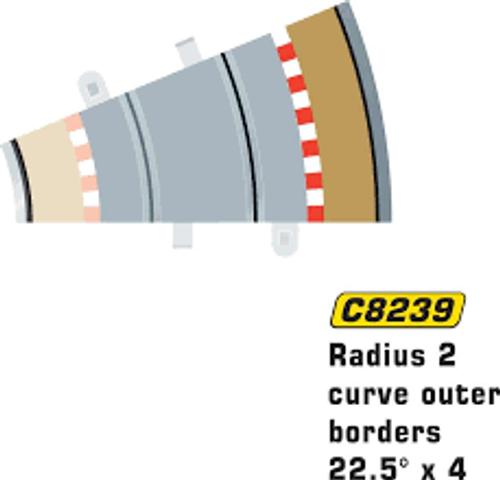 Scalextric # C8239 Radius 2 Curve Outer Borders