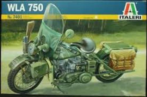 Italeri #7401 1/9 WWII WLA US Army Motorcycle