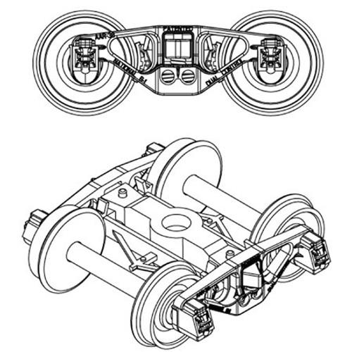 "Athearn Genesis #ATH90402 HO 70-Ton Truck National B-1 W/33"" Wheels"