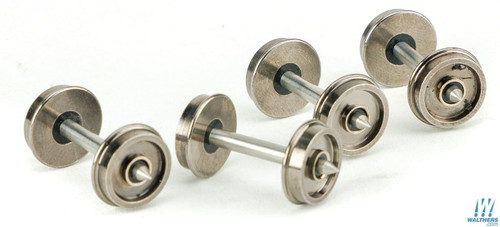 """Walthers Proto #920-2302 HO Scale 36"""" Wheelsets with metal axles 12-pack"""