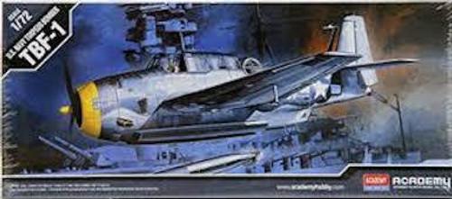 Academy #12452 1/72 TBF-1 U.S Navy Torpedo Bomber