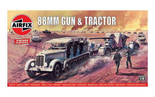 Airfix #A02303V 1/76 88mm Gun and Tractor (Vintage Classics)