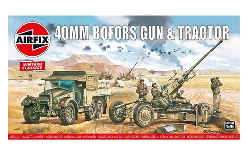Airfix #A02314V 1/76 Bofors 40mm Gun and Tractor (Vintage Classics)