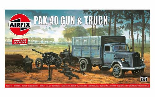 Airfix #A02315 1/76 PAK40 Gun and Truck (Vintage Classics)
