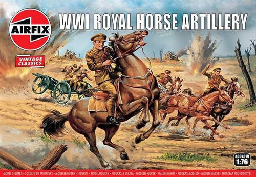 Airfix #A00731V 1/76 WWI Royal Horse Artillery-Vintage Classics
