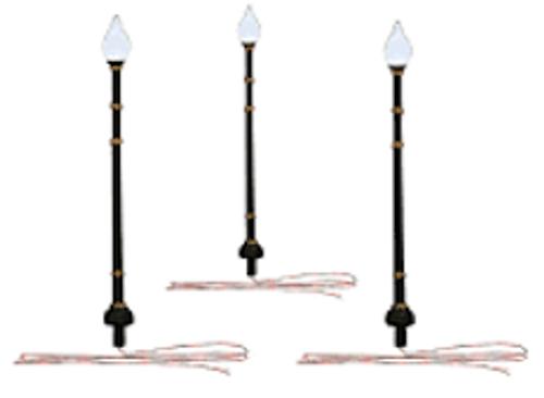 Just Plug #JP5641 N Scale 3 LED Street Lights-Lamp Post