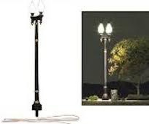 Just Plug #JP5632 HO Scale 3 Street Lights-Double Lamp Post