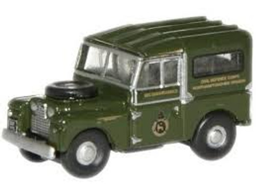 """Oxford #NLAN188001 N Scale Land Rover 88"""" -Civil Defence"""