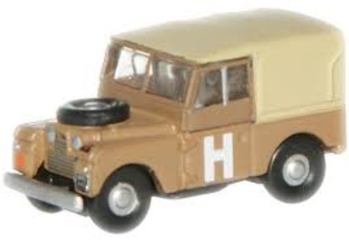 """Oxford #NLAN188002 N SCale Land Rover 88""""-Sand"""