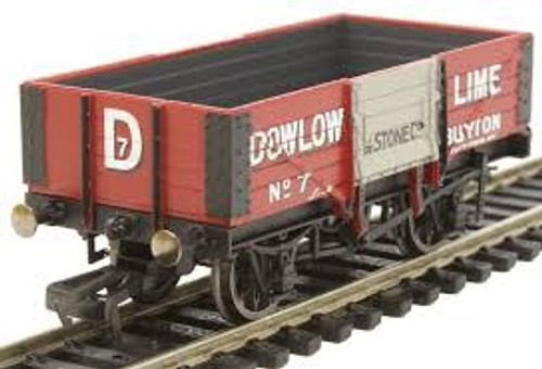 Hornby # R6947  00 5 Plank Wagon 'DOWLOW LIME' No 7