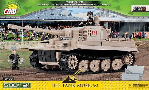 Cobi #2519 Tiger 131 SD.KFZ 181 Panzerkampfwagen VI 530 pce