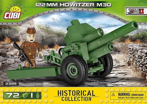 Cobi #2395 122mm Howitzer M30-72 pce