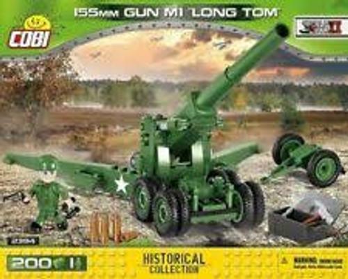 "Cobi #2394 155mm Gun M1 ""Long Tom""-200 pces"