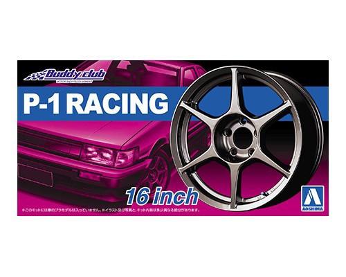 Aoshima #5251 1/24  P-1 RACING 16inch Wheels and Tyres