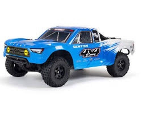 ARRMA #ARA4203V3T2 Ver.3 Senton 4X4 Mega 550 Brushed Short Course Truck-Blue/Black