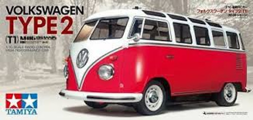 Tamiya #47420 1/10 Volkswagen Type 2 (M-O6 Chassis) Red/White Painted Body