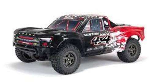 ARRMA #ARA4303V3T2 1/10 Senton 3S BLX 4WD Brushless Short Couse Truck-Red