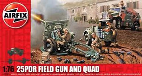Airfix #AO1305 1/76 25 PDR Field Gun And Quad