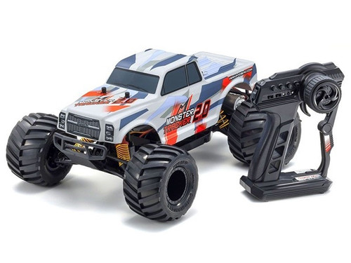 Kyosho #34404T2B  Monster Tracker 1/10 RTR Monster Truck (Red and White)