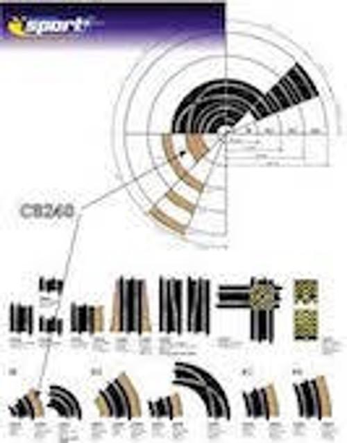 Scalextric #C8240 Radius 1 Curve Outer Borders 4pcs