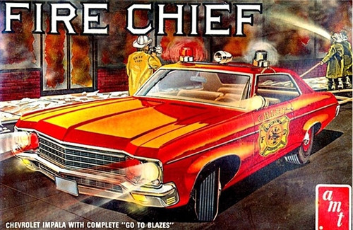 AMT  #1162 1/25 Chevy Impala Fire Chief
