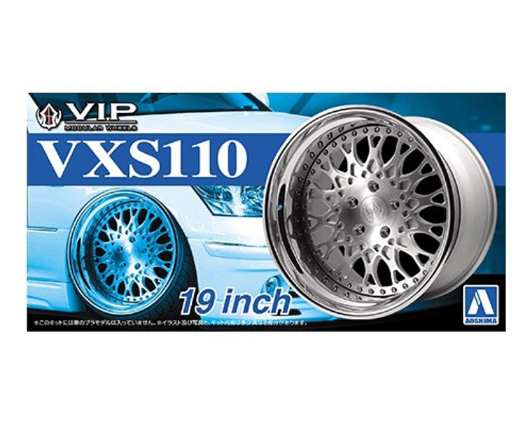 Aoshima #5246 1/24 VXS110 19 Inch Wheels and Tyres