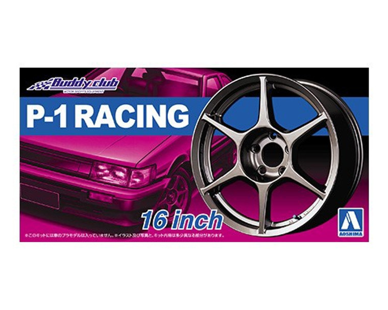 Aoshima #5251 1/24  P-1 RACING 16inch Wheels and Tyres