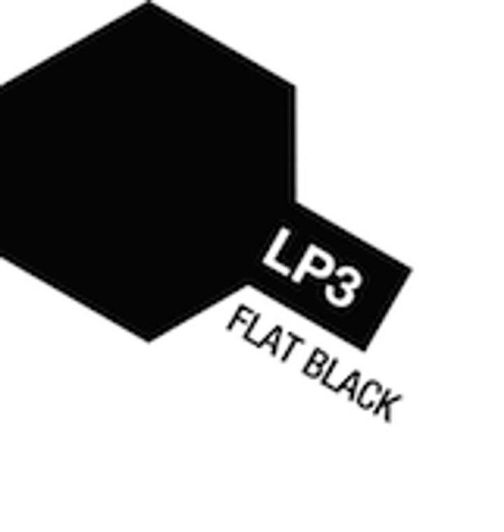 Tamiya #82103 Lacquer Paint LP-3 Flat Black