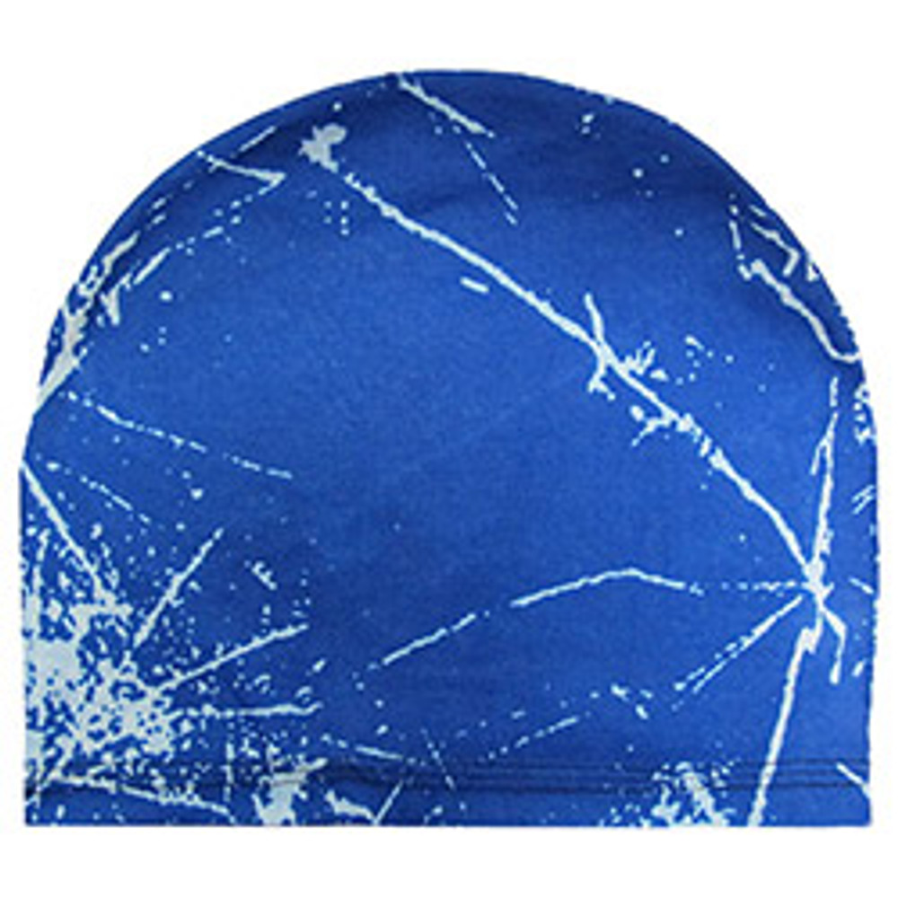 Stretch Skull Cap - Blue & White Fusion