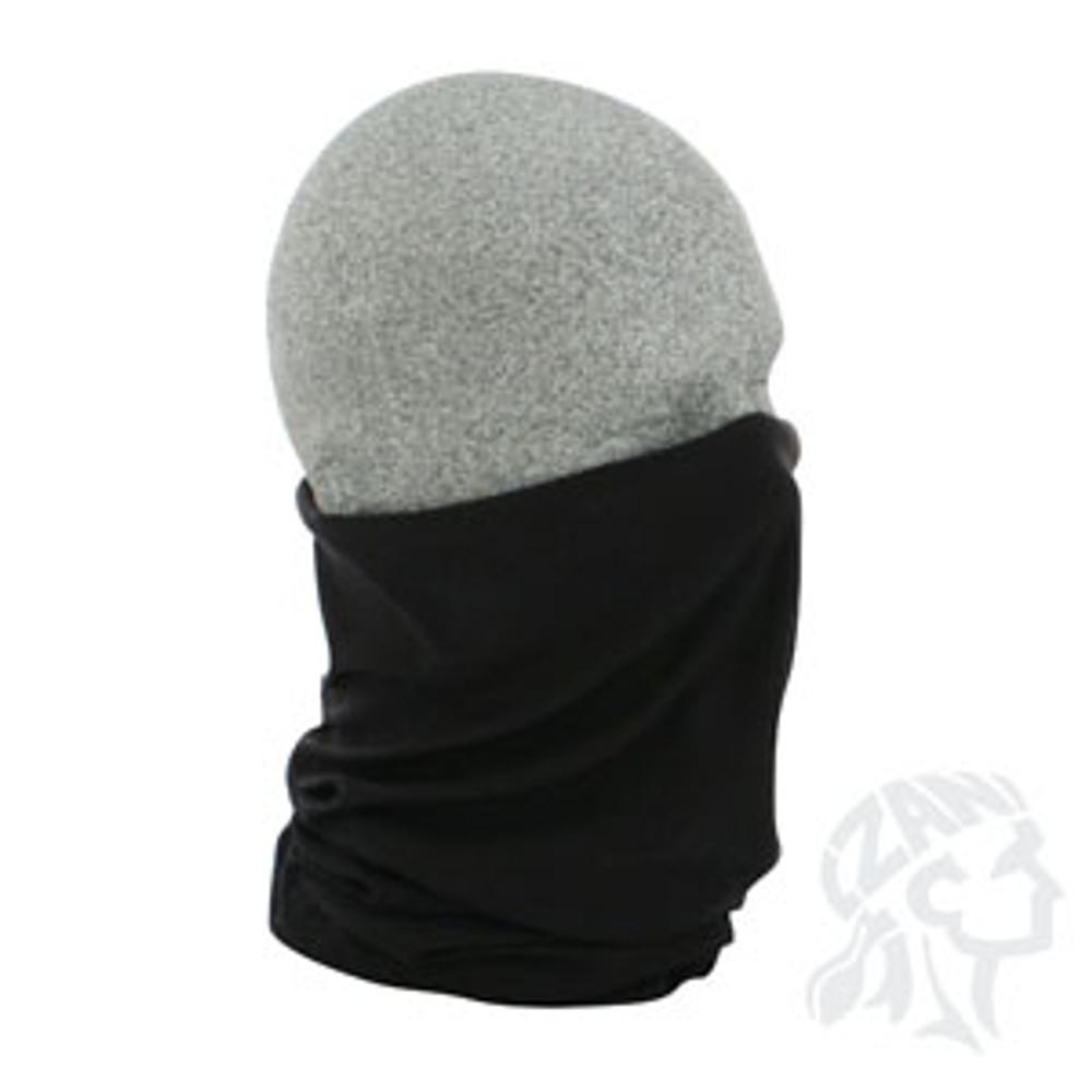 Motley Tube, 100% Polyester, Solid Black, Multifunctional Headwear