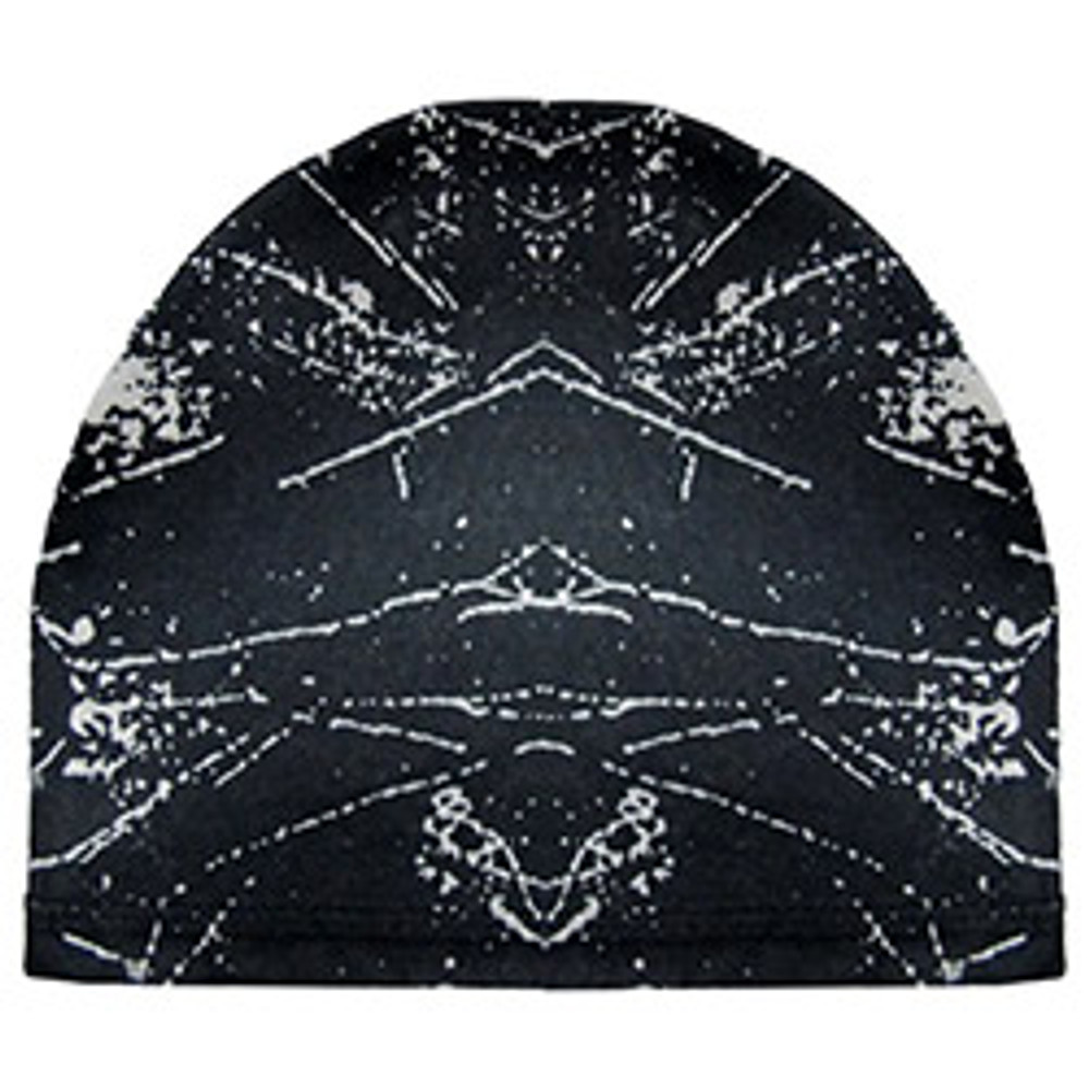 Stretch Skull Cap - Black & White Fusion