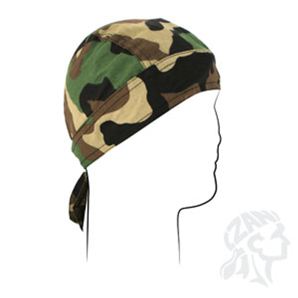 Flydanna, 100% Cotton, Woodland Camouflage