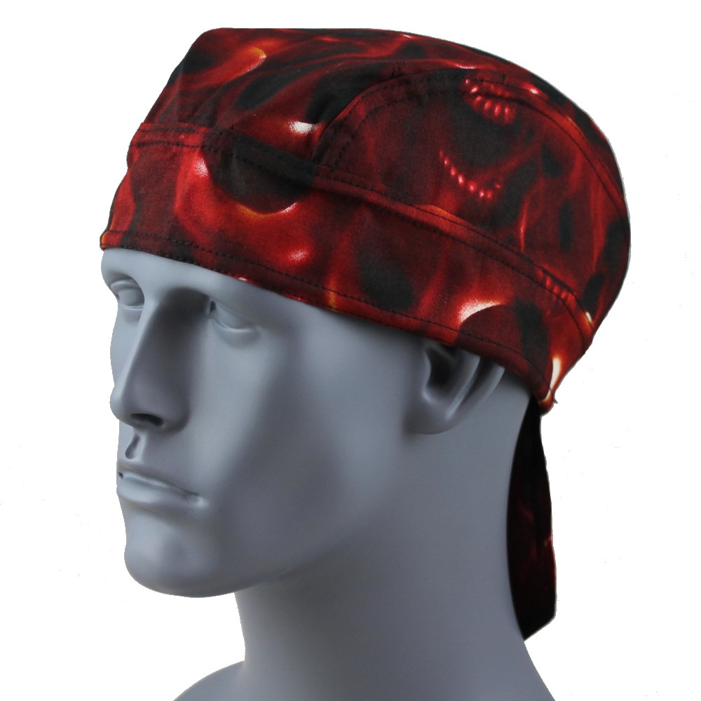 Red Skulls With Velcro Straps