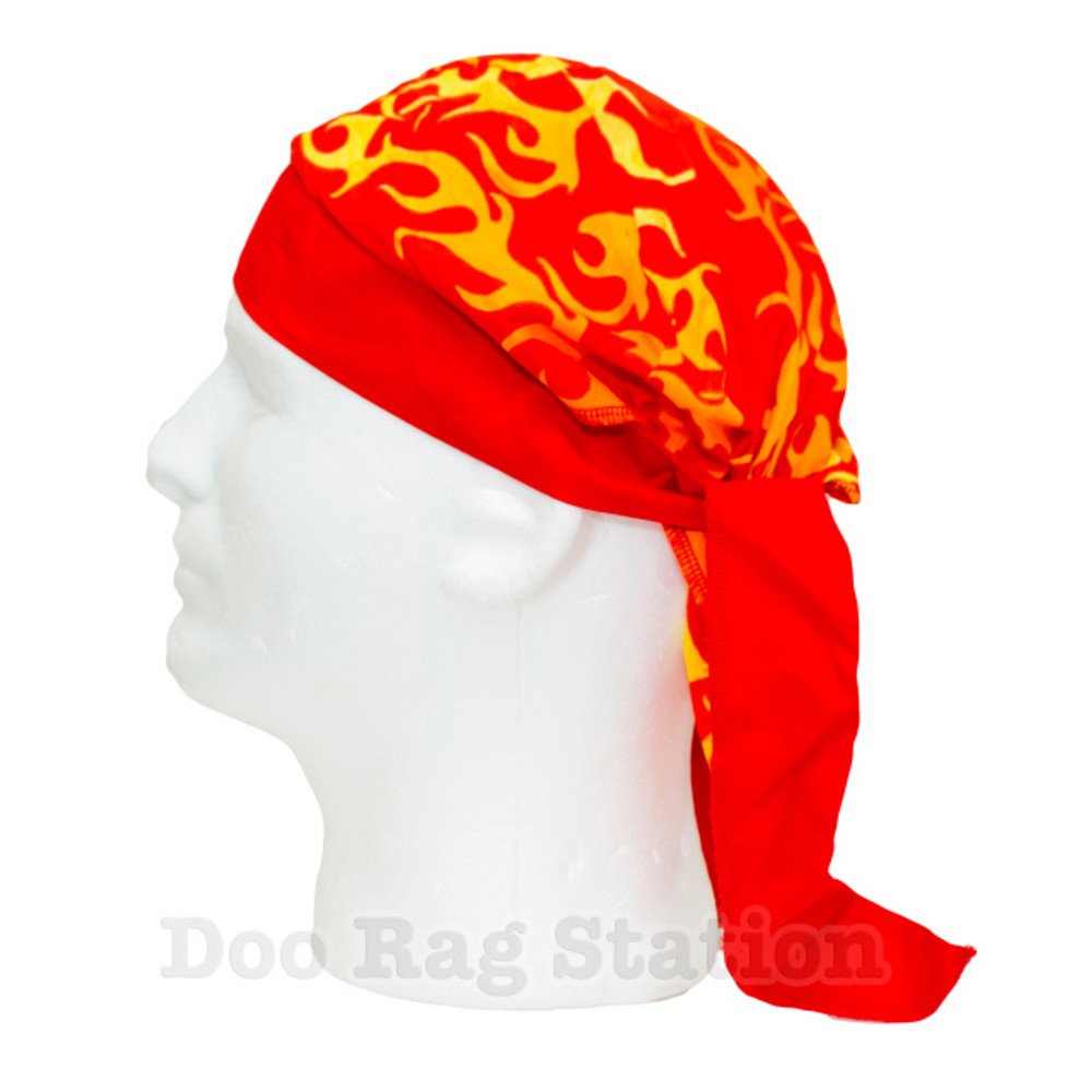 Yellow Flames On Orange By Doo Rag Station