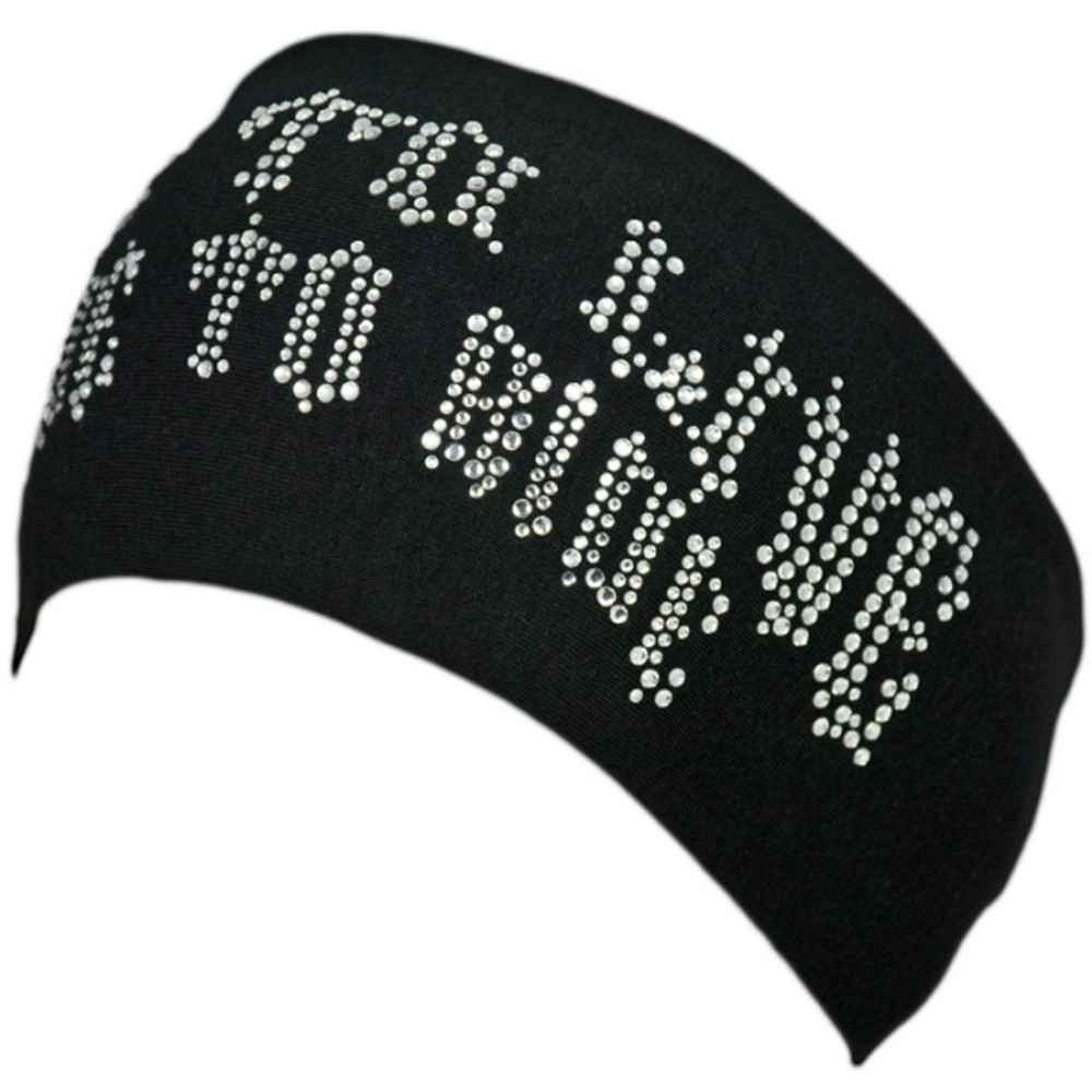Clear Rhinestone Ride To Live Stretch HeadBand